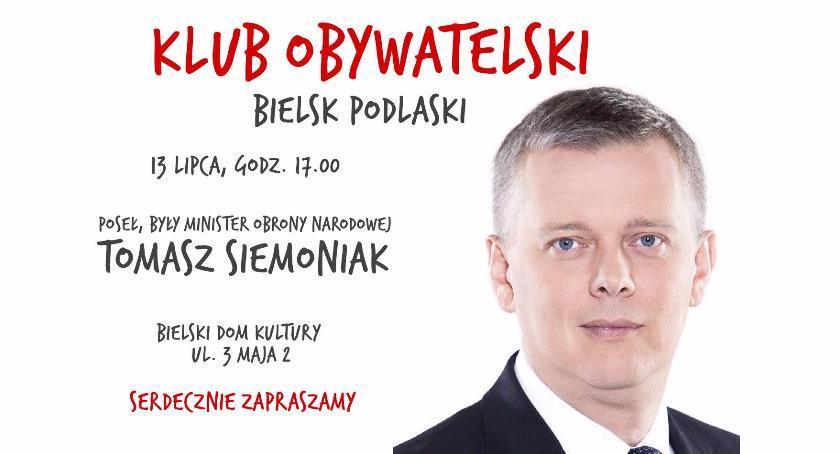 Polityka, Spotkanie Klubu Obywatelskiego Bielsk Podlaski - zdjęcie, fotografia