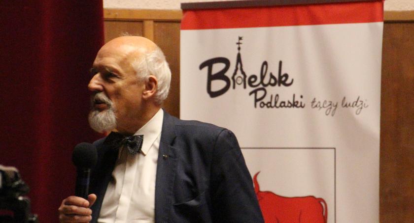 Polityka, Janusz Korwin Mikke odwiedził Bielsk Podlaski - zdjęcie, fotografia